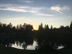 Abendhimmel über dem Campingplatz - Campground Sunset