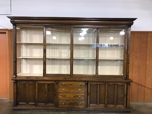 Large Oak Country Store Display Case $1,057.68