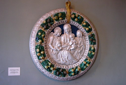 Lemon Wreath Nativity Scene by Della Robbia, Hermitage Museum, St. Petersburg, Russia