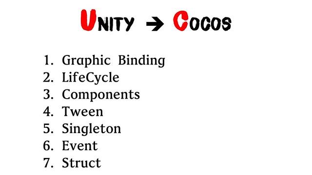 Unity to Cocos
