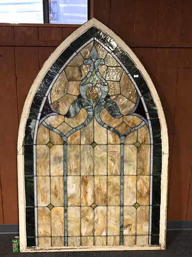 Large Stained Glass Church Window (468.00)