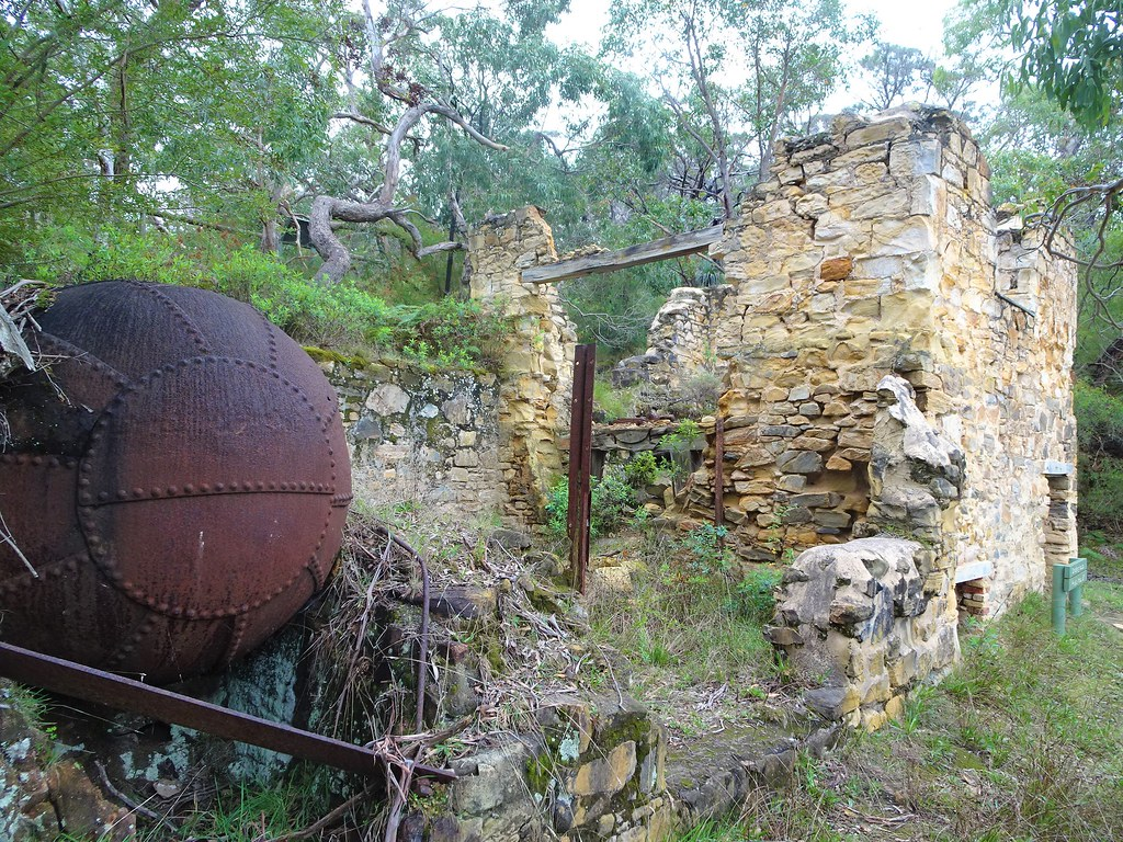 Talisker silver mine. Near Cape Jervis. This  boiler was part of the Enginehouse next to the crushing plant. Built in 1865.  The mine closed in 1872. .