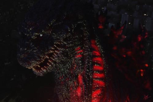 Shin Godzilla night scene