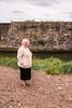 Christine at Den Burn at back of Harbour
