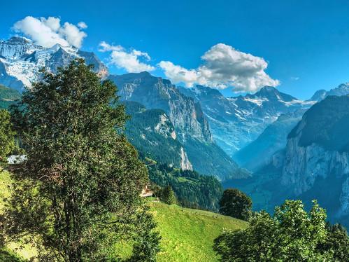 An afternoon alpine vista
