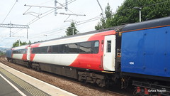 Photo of Barrier coach 6394, Mk3 coaches 42205 and 42210, barrier coach 6393 at Camelon.