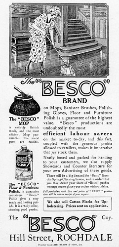 Besco Co., Rochdale. 1926