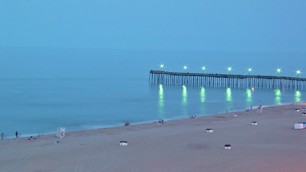 Virginia Beach Fishing Pier in early evening