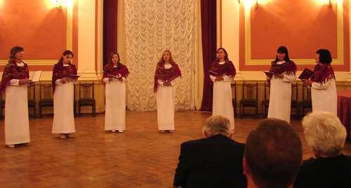 Women's Chamber Chorus Singing A Cappella in the Music Hall at the Russian Academy of Fine Arts, St. Petersburg, Russia