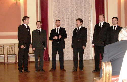 Men's Chamber Chorus Singing A Cappella in the Music Hall at the Russian Academy of Fine Arts, St. Petersburg, Russia