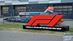 Photo of Bloodhound SSC model, 2019 British Grand Prix, Silverstone, 13th July