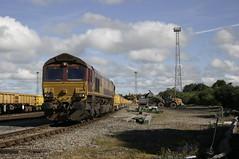 Photo of 66 199 at Carlisle Kingmoor LDC spoil tip.