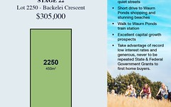 Lot 2250, 9 Backelei Crescent, Grovedale VIC