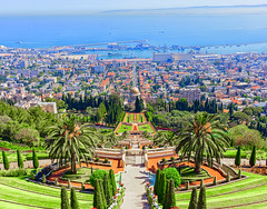 The Hanging Gardens of Haifa, Israel
