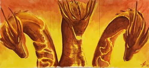 Ghidorah Triptych