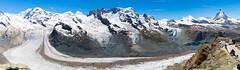 Gornergrat glacier panorama