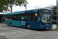 Photo of 3602 / KE55 CTU - Scania L94UB / Wright Solar - Arriva the Shires -  Central Milton Keynes 10Jul20