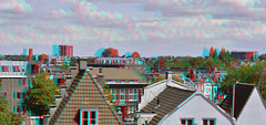 Haarlem vanaf parkeerdek  3D