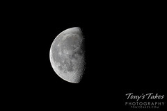 July 11, 2020 - A gorgeous waning gibbous moon. (Tony's Takes)