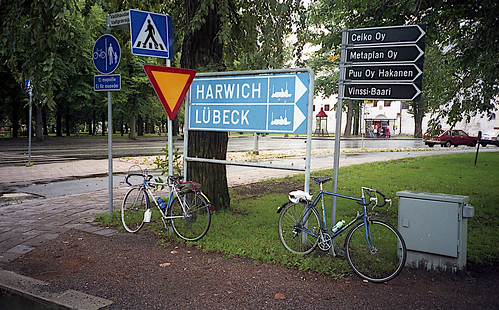 Road sign near Turku Castle