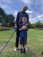 Photo of Michael and Fintan at Cutteslowe Park, Oxford - July 2020