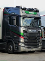Photo of Scania Next Generation Highline V8  S580 172-RN-405 Late 2017 Bring International [ IRE ] Lymm Truckstop M6 UK