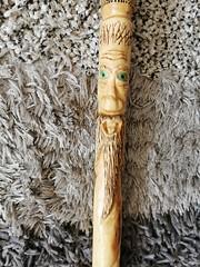 A wood spirit wizard stick