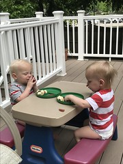 "Luc and Sam Eat a Snack • <a style=""font-size:0.8em;"" href=""http://www.flickr.com/photos/109120354@N07/50109325541/"" target=""_blank"">View on Flickr</a>"