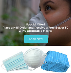 white woman with mask on her face to protect herself from the coronavirus.
