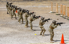 Nigerian Army Soldiers participate in a live-fire exercise as part of FLINTLOCK 20