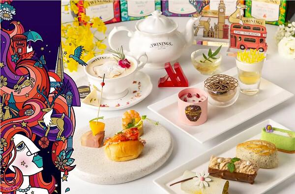 圖5 - 在KLOOK上預訂《台北萬豪酒店》住宿直接升等豪華客房,更附贈英國TWG唐寧茶聯名下午茶,限時65折只需要6,600元