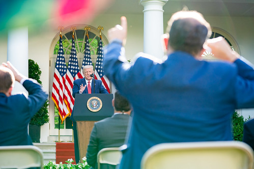 President Trump Holds a News Conference by The White House, on Flickr