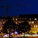 Dresdens Neustadt bei Nacht
