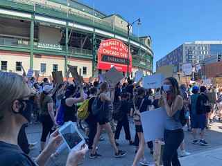 Wrigley Field - George Floyd Protests Photos