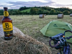 Field camp with Bulmers.