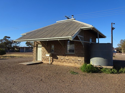 Parachilna in the Flinders Ranges. A small outback town only needs a small railway station. The railway reached here in 1882.