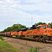 BNSF 9059 Leads WB Grain Wellsville, KS 7-17-20