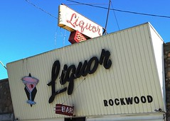 MI, Farwell-U.S. 10(Old) Rockwood Tavern Signs