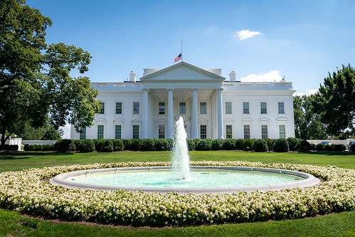 The United States Flag Flies at Half-Sta by The White House, on Flickr