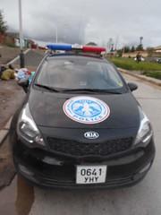 Police car (Ulaanbaatar, Mongolia)