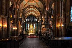 Matthias Church interior - Buda Castle, Budapest