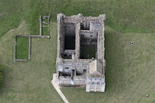Castle Rising aerial image - Norfolk castle