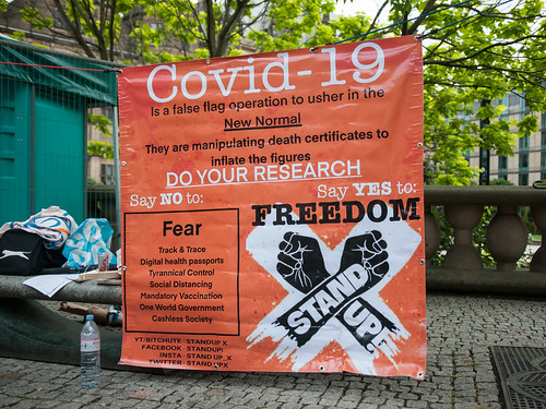 Anti Mask Protest - Coronavirus (COVID- by Tim Dennell, on Flickr