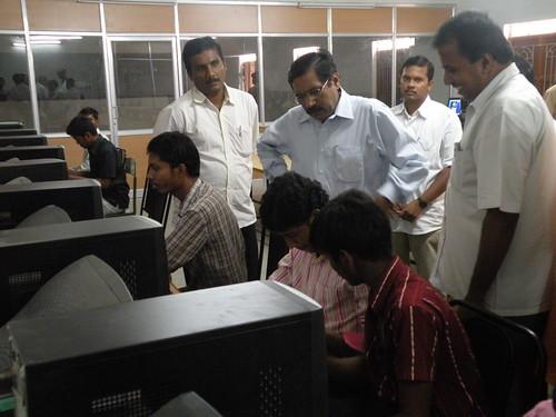Visit of Coimbatore District Collector - ITI- SRKV, Coimbatore