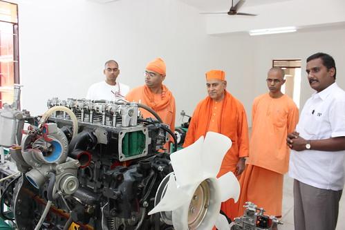 Visit of Revered Swami Gautamanandaji Maharaj to ITI - SRKV, Coimbatore