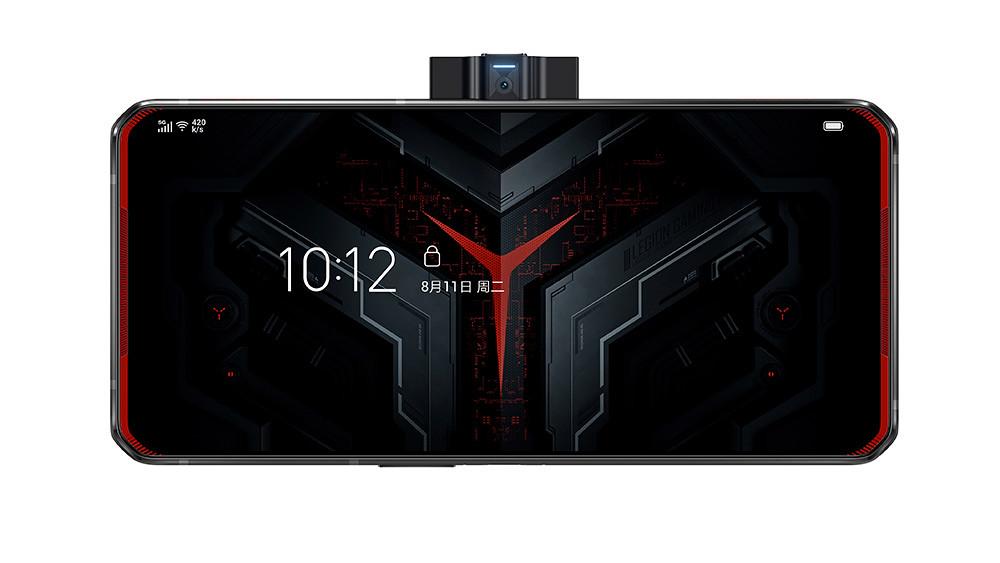 新聞照片7_Lenovo-Legion™-Phone-Duel_赤焰戰甲(中置鏡頭開啟,正面)