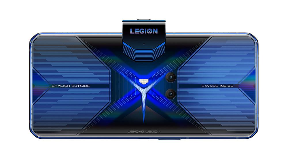 新聞照片8_Lenovo-Legion™-Phone-Duel_炫藍冰刃(中置鏡頭開啟,背面)
