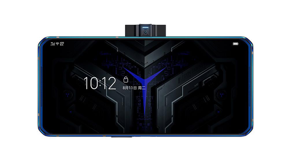 新聞照片5_Lenovo-Legion™-Phone-Duel_炫藍冰刃(中置鏡頭開啟,正面)
