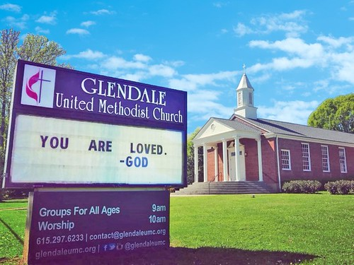 You are loved - God  | Glendale United Methodist Church - Nashville Sign