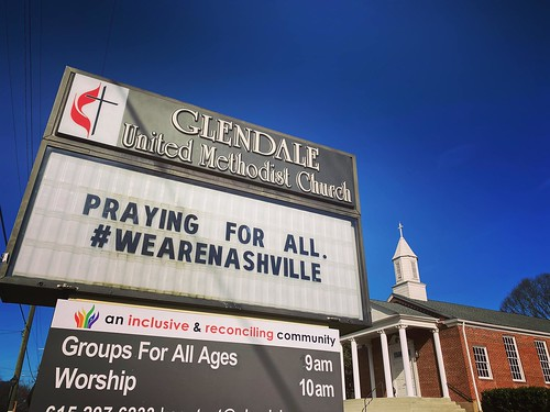 We Are Praying For All #WeAreNashville | Glendale United Methodist Church - Nashville Sign